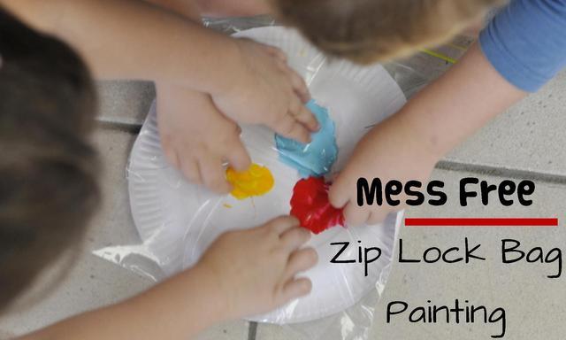zip lock bag painting