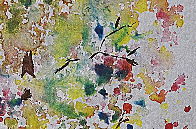 watercolour triad tree