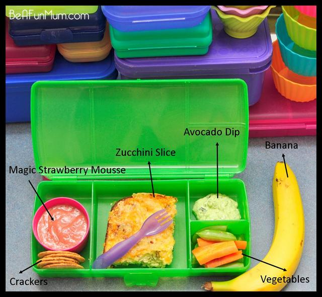 lunch box ideas - zucchini slice