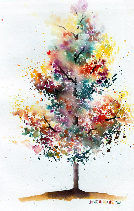 Autumn bloom tree watercolour experiment be a fun mum for Fall paintings easy