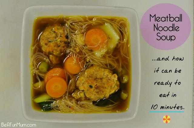 meatball noodle soup recipe