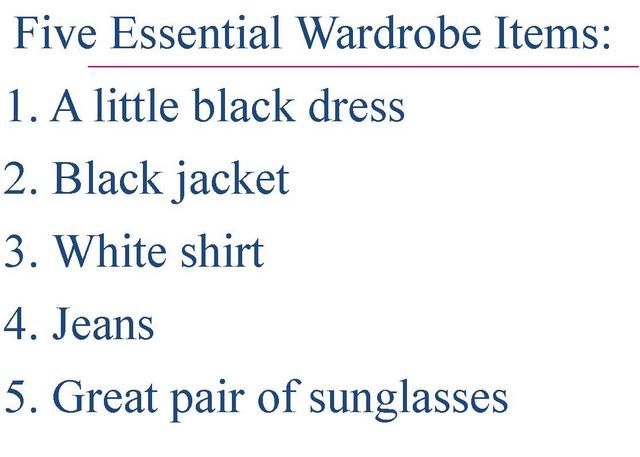 5 essential wardrobe items