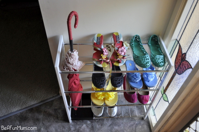 organising shoes -- shoe rack