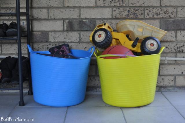 organising shoes -- tuff tubs