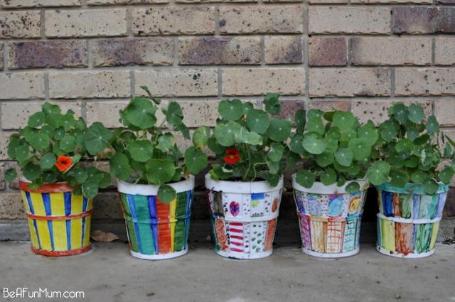More  Part 1 Rainbow Garden: Paint Pots  Part 2 Rainbow Garden: Planting Nasturtiums