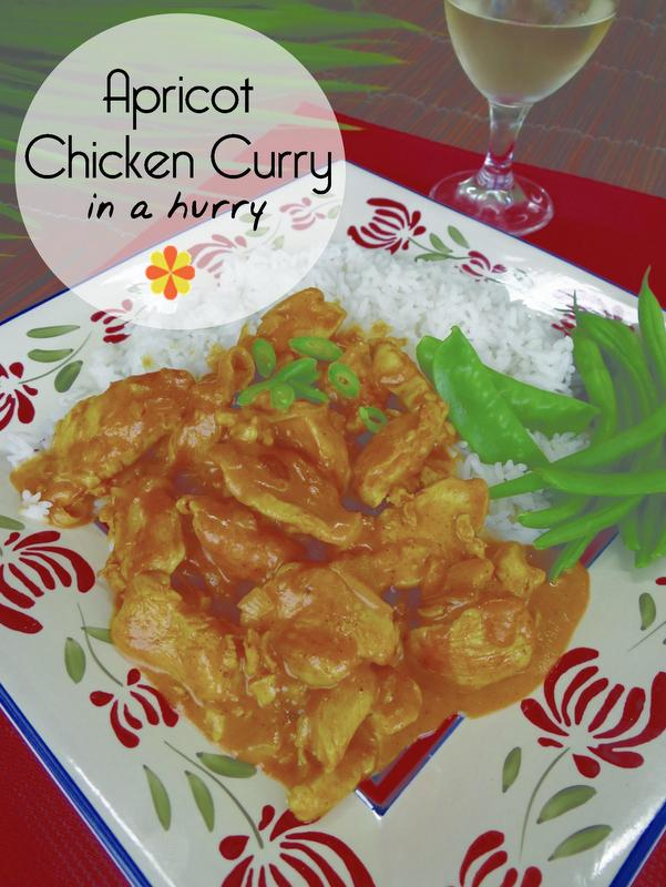 apricot chicken curry in a hurry