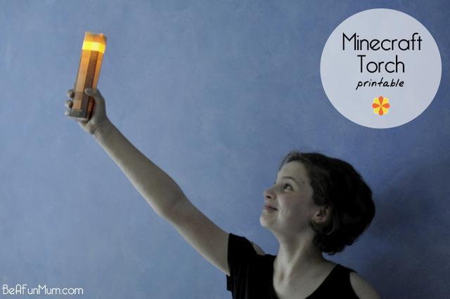 minecraft torch printable -- free