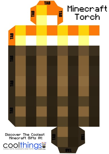 Minecraft torch with flickering light be a fun mum for Cool things to print out