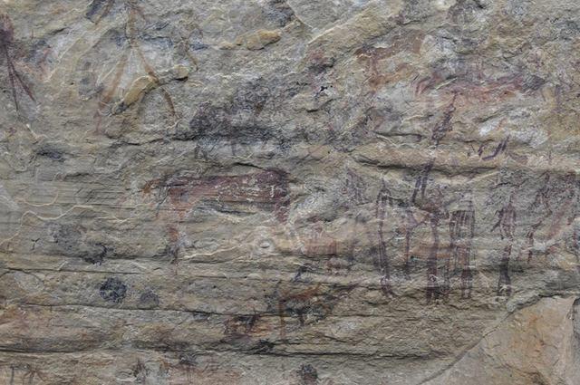 pony trek -- Malealea, Lesotho, Africa -- cave painting -- bushman painting