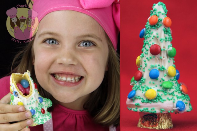 Christmas Food Ideas - kids Surprise Christmas Tree Pinatas