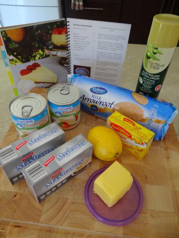 ingredients -- easy lemon cheesecake recipe
