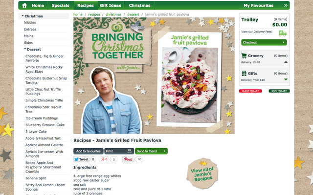 woolworths online shopping - jamie oliver