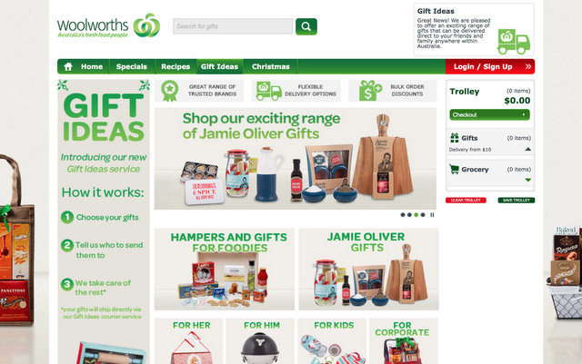 woolworths online shopping - gift guide