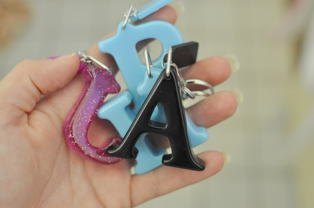 key ring letters