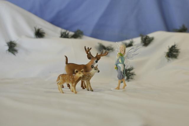 White christmas - Schleich figurine - fairy / deer