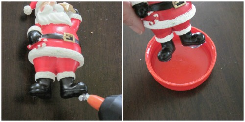 make your own snow globe - Glue Ornament to Lid