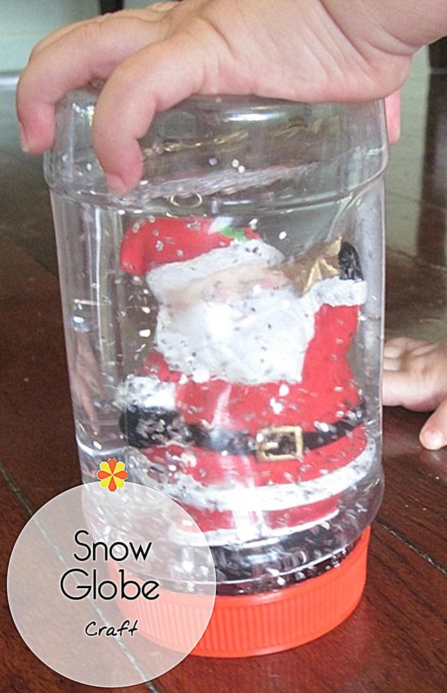easy snow globe craft - on beafunmum.com