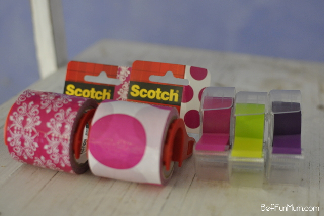ways to use decorative tape - 3M Scotch Expressions - on beafunmum.com