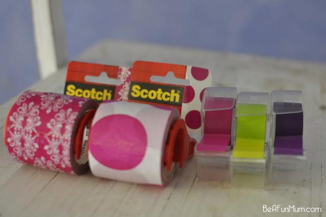 ways to use decorative tape - 3M Scotch Expressions - on beafunmum.com