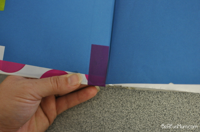 decorative tape ideas: cover a notebook - on beafunmum.com