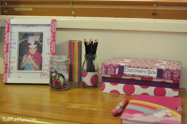 This is fun for kids and good way to recycle old shoe boxes - make a Discovery Box for kids to keep their little treasures
