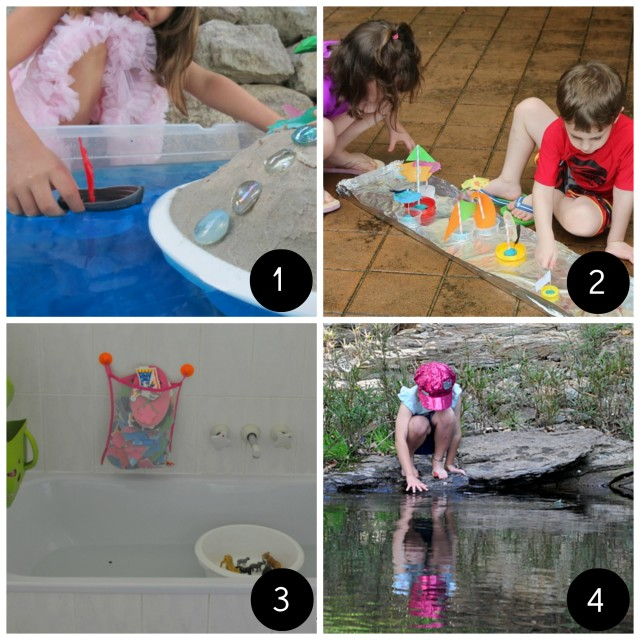 fun for kids -- water play -- boats - on beafunmum.com