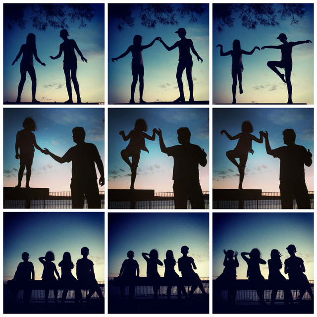 silhouette pictures - at sunset