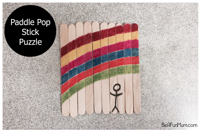 paddle pop stick puzzle / popsicle stick puzzle - so simple and easy