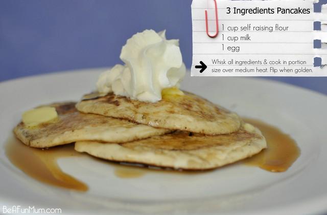 3 ingredients pancakes