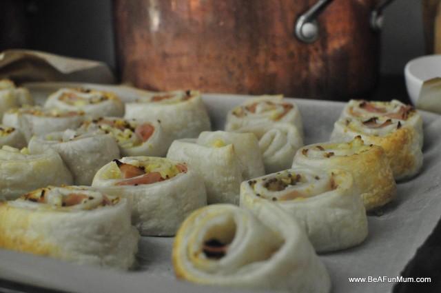 puff pastry scrolls