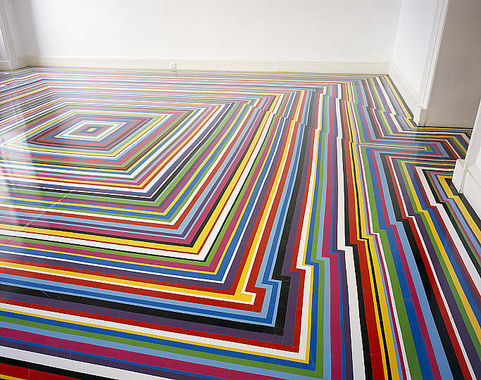Jim Lambie - ZPBOP - Vinyl Tape Floors -  National Galleries