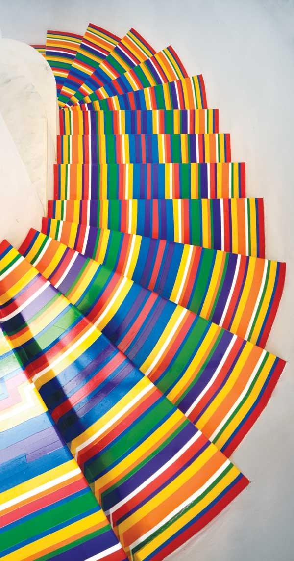Jim Lambie Vinyl Stairs