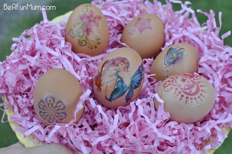 Easter: Decorating eggs - use a temporary tattoo