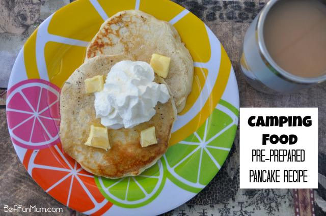Camping Food: Pre-prepared Pancake Mix Recipe