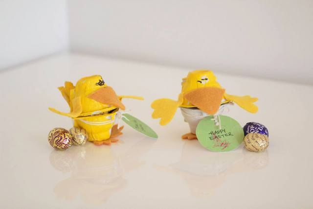 Egg Carton Chicky Chocolate Holder