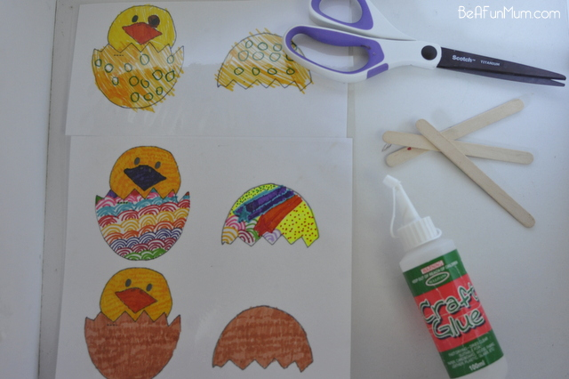 Easter Craft - hatched egg template
