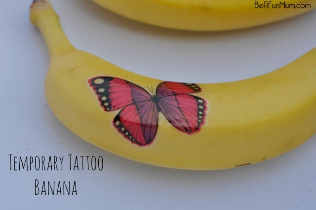 Temporary Tattoo Banana - fun for the lunch box