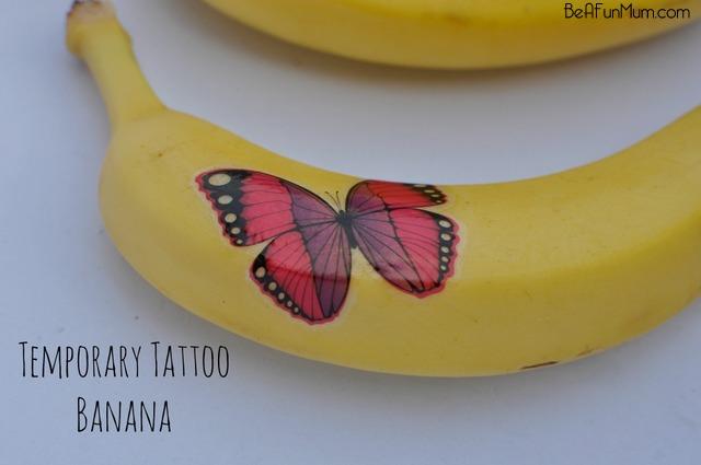 Temporary Tattoo Banana - fun for the lunch box