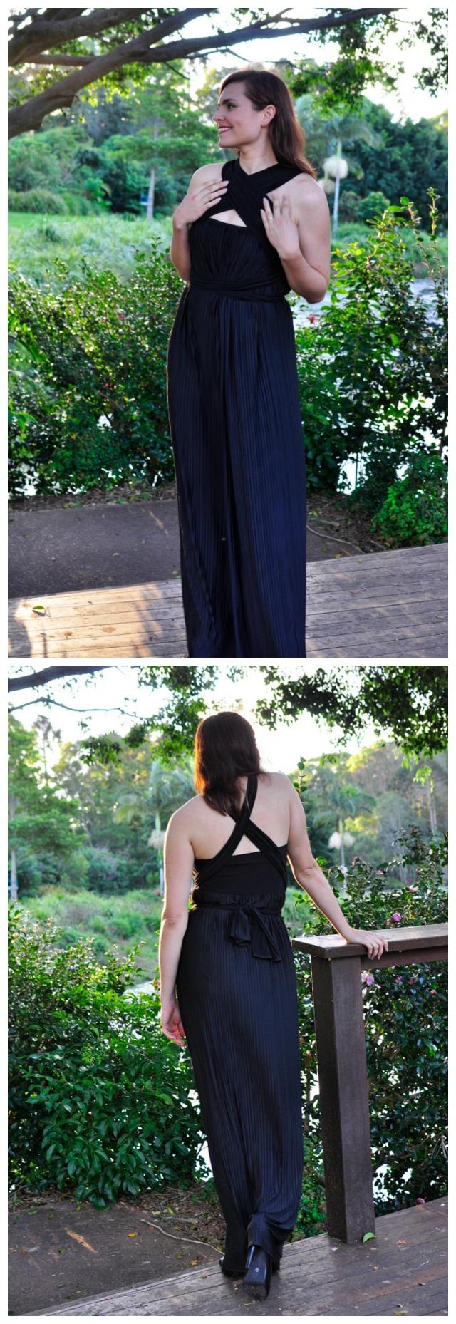 Sacha Drake Dress - Front & Back