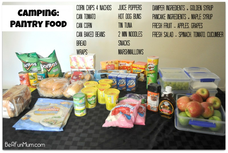 Camping food - pantry food