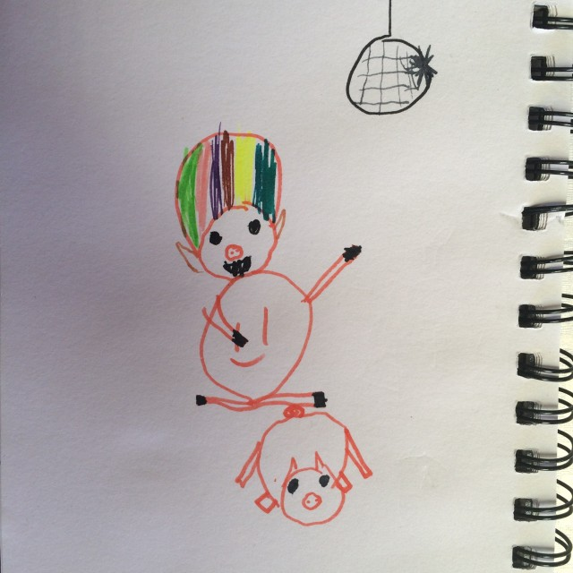 Kid drawing - Afro Pig