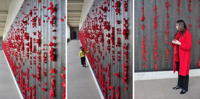 Poppies at the War Memorial Museum