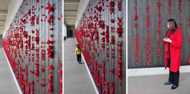 Poppies at the War Memorial Museum