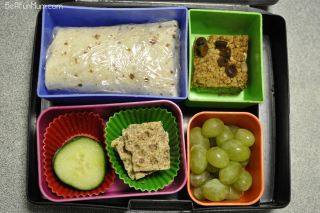 Muesli Slice in the lunch box