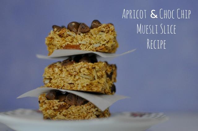 Apricot & Choc Chip Muesli Slice Recipe