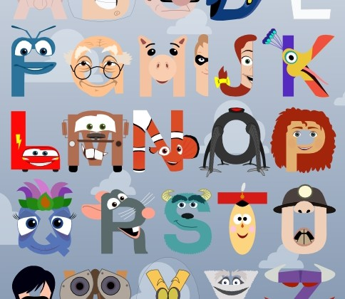 Pixar Alphabet by Mike Boon
