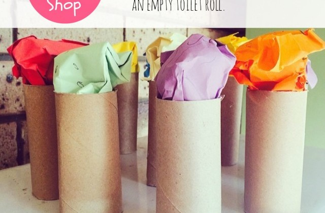Cardboard Roll Craft: Ice Cream Shop