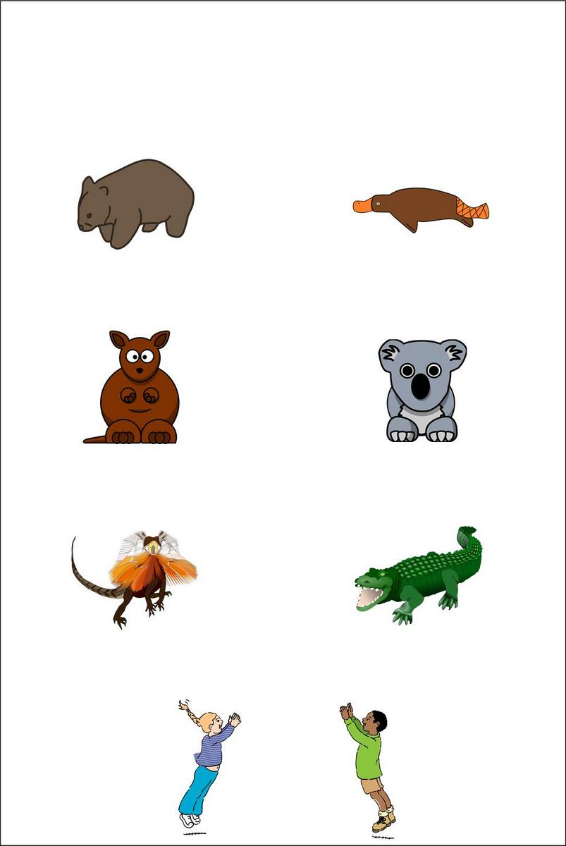 paper craft -  Australian Animals