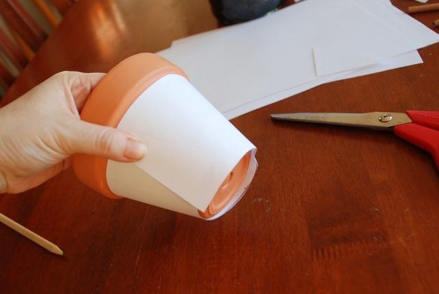 how to decoupage a pot