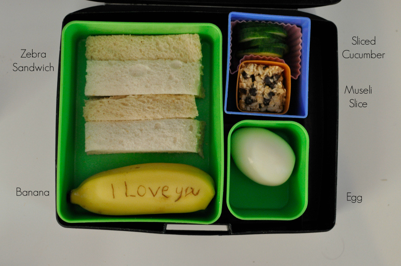 Lunch Box Ideas - Write a message on a banana